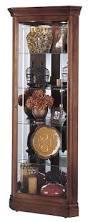 Kitchen Corner Display Cabinet Curio Cabinet Corner Curio Cabinet Cherry Wood Glass Display