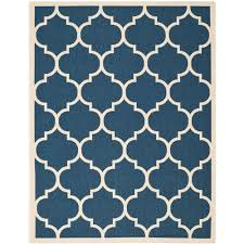 Safavieh Outdoor Rugs Safavieh Courtyard Navy Beige 8 Ft X 11 Ft Indoor Outdoor Area