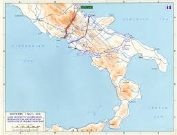 United States Rivers Map by Map Of Allied Advance To Volturno River January May 1944