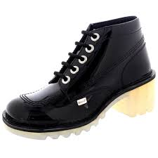 womens kicker boots uk womens kickers kopey hi patent leather lace up high heel ankle