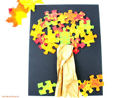how to make a lovely fall tree craft easy puzzle tree