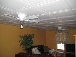 small sitting space using drop ceiling tiles painted in and