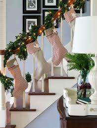 How To Decorate Banister With Garland 37 Beautiful Christmas Staircase Décor Ideas To Try Digsdigs