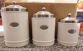 kitchen counter canisters williams sonoma ceramic kitchen counter canisters set of 3 white