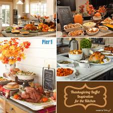 easy thanksgiving buffet table display ideas at home buffet