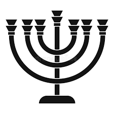 simple menorah menorah icon in simple style stock vector illustration of candle