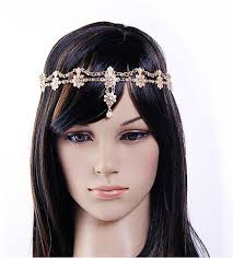 chain headpiece 2017 pearl flowers small diamond tiara volume chain ornaments h245