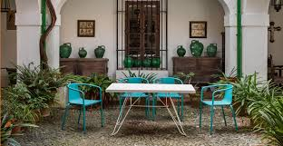 Contract Outdoor Furniture Modern Hospitality Furniture Colorful European Metal Furniture