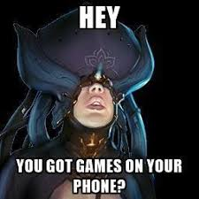 You Got Games On Your Phone Meme - games on your phone warframe know your meme