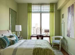 Green Bedroom Paint Colors - soft green wall paint color semi opaque grommet curtain full size
