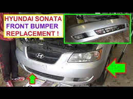 hyundai sonata 2008 parts how to remove and replace the front bumper cover on hyundai sonata