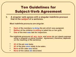 ppt subject verb agreement powerpoint presentation id 6972894