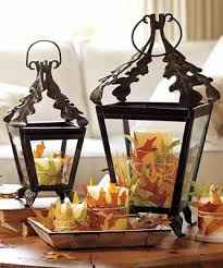 candle centerpieces ideas candle centerpiece ideas table decoration with fall leaves and