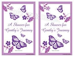 butterfly baby shower invitation custom easily personalized