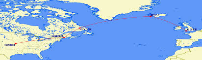 Air Canada Flight Map by Aircraft Ferry Specialists