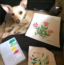 puppy paw print flowers crafty morning