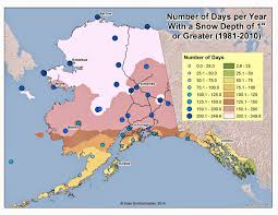 Alaska Weather Map by Deep Cold Interior And Northern Alaska Weather U0026 Climate Length