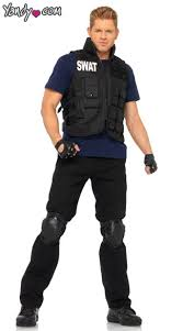 mens costume swat team costume mens swat commander costume mens