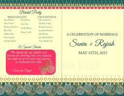 hindu wedding program indian wedding program indian