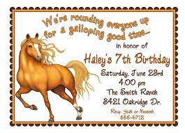 Invitation Party Card Horse Party Invitations Theruntime Com