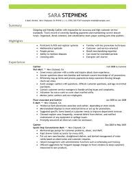 Resume Sles For Cashier Best Part Time Cashiers Resume Exle Livecareer