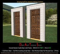 Old Interior Doors For Sale Second Life Marketplace Carved Rustic Door Rustic House Door
