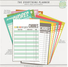 free chore chart printables chore ideas for children my frugal