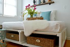 Build A Platform Bed With Drawers by Diy Platform Bed With Storage