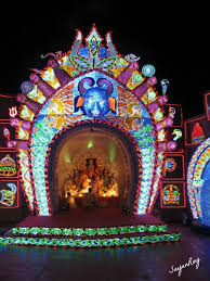 Decoration Of Durga Puja Pandal The Incredible Maa Durga Protima Resting In Her Abode