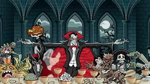 pumpkin halloween wallpaper download wallpaper 3840x2160 dracula vampire art feast pumpkin