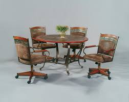 Leather Dining Room Chairs With Arms Brown Leather Chairs With Arm Rest Also Combined With Brown Wooden