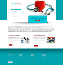 landing page templates for blogger the doctors blog free blogger template