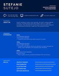 Make Resume Online And Save It by Infographic Resume Templates Canva