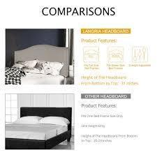 headboards for adjustable beds amazon com langria adjustable full queen headboard upholstered