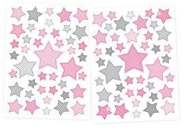 kinderzimmer grau rosa dinki balloon kinderzimmer wandsticker sterne rosa grau 68 teilig
