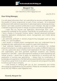 cover letters for it professionals surprising professional cover