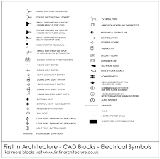 free electrical symbols cad blocks from first in architecture