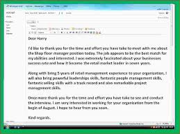 4 sample thank you note after interview ganttchart template