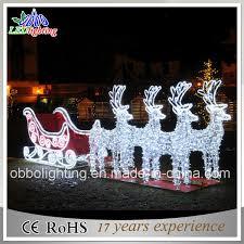 china led outdoor light 3d motif light reindeer and