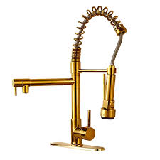 Pull Down Kitchen Faucet by Gold Finish Kitchen Sink Faucet With Pull Down Faucet