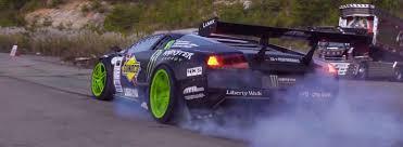 Lamborghini Murcielago Drift Car - watch this crazy drift battle between a mustang and a lamborghini