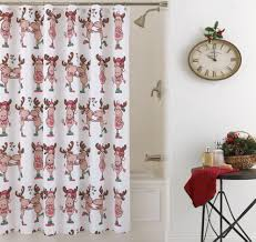 christmas bath decor christmas shower curtains holiday bath
