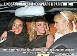Paris Hilton Meme - lohan britney spears paris hilton