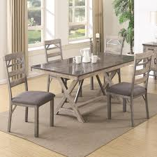 Coaster Dining Room Sets Coaster 106321 322 Antique Elm Finish 5 Pc Dining Table And Chairs Set