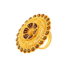rings online gold images 22kt yellow gold ring gold rings online for women p c chandra png