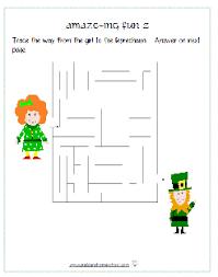 st patrick u0027s day worksheets preschool to grade 1 education