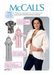 mccall s 7511 misses open front jackets with shawl collar and