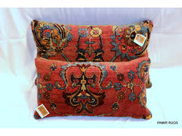 decorative handmade antique kashan pillows made out of
