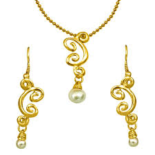 trendy gold chain necklace images Buy surat diamond trendy shell pearl gold plated pendant jpg