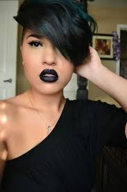 pic of black women side swept bangs and bun hairstyle 10 new black hairstyles with bangs popular haircuts